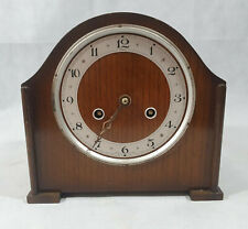 Vintage Anvil Mantel Clock, Made in England, Wooden Clock