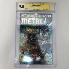 DC Comics Dark Nights Metal # 2 CGC 9.0 Signed X3 Lee Convention Foil Variant