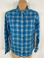 WOMENS JACK WILLS BLUE/WHITE CHECK BOY FIT SMART CASUAL SHIRT BLOUSE TOP UK 8
