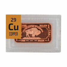 WHOLESALE 12 x Buffalo COPPER METAL INGOT .999 pure Periodic Element tile