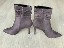 🆕💖Lipsy High Heels Shoes Boots Size Uk 7 Grey side Zip BRAND NEW💖💝