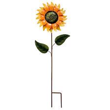 Metal Sunflower Yard Garden Stake Decorative Sunflower Yard Stake Flower Decor