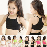 Kids Girls Camisole Baby Child Sports Dance Tube Crop Tank Tops Vest T-shirt  US