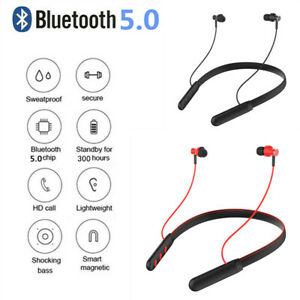 Bluetooth Sport Magnetic Earphones Stereo Earbuds Headphones Neckband With Mic*