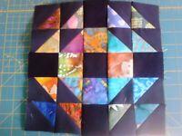 X And O Batik Quilt Blocks