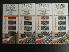 4 SALLY HANSEN SALON EFFECTS LIMITED EDITION NAIL STICKERS - NEW - EL 2333