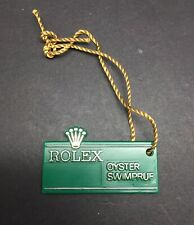 VINTAGE ROLEX GREEN HANG TAG SELLO SWIMPRUF *BIG CROWN* 1970's