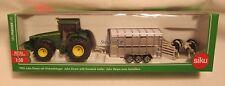 Siku 1956 - John Deere Tractor & Livestock Trailer - Ships from USA - NEW!