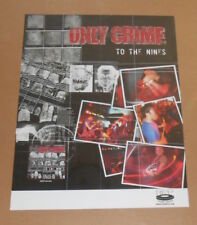 Only Crime To the Nines Poster Original Promo 24x18 Punk
