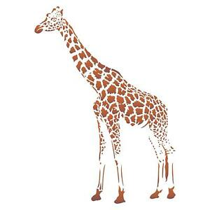 Giraffe Stencil Reusable African Animal Wildlife for Painting Wall Furniture