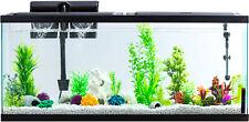 55-Gallon Aquarium Fish Tank LED Light Full Starter Kit Tetra Filter Hood Pet