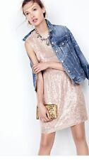 J CREW Rose Gold Sequin Dress, Size 8