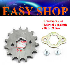 15T Teeth 20mm 428 Chain Front Sprocket Cog PIT TRAIL QUAD DIRT BIKE ATV BUGGY