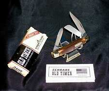 """Schrade 34Ot Old Timer Knife Junior Stockman 3-5/16"""" 1970's W/Packaging,Papers"""