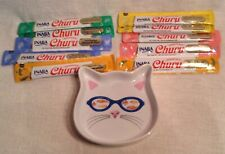 Cat Head Shaped Food Dish & 10 Packs Treats-Exp. 12/21