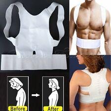 Mujeres Hombres terapia magnética ESPALDA CORRECTOR DE POSTURA Soporte Cinturón