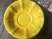 Vintage Yellow McCoy Pottery Shallow Bowl in Good Condition