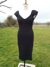STAR by Julian McDonald Little Black Bodycon Stretch Dress UK 10 BNWT RRP £50.00