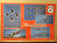 Vintage Thunderbirds U.S. Air Force poster Military 7034