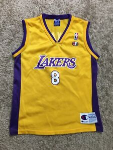 Vintage Kobe Bryant #8 Champion Lakers Jersey Youth Size Medium (10-12)