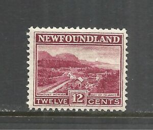 NEWFOUNDLAND SCOTT 141 MH VF - 1923/24 12c LAKE ISSUE   CV $7.50
