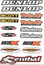 4MX Sticker Decal Sheet Dunlop Scott Twin Air S Silkolene fits Mountain Bike