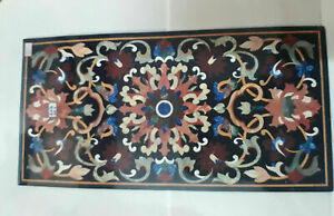 "48"" x 24"" Marble Inlay Center Table Top Pietra Dura Art handmade Home Decor"