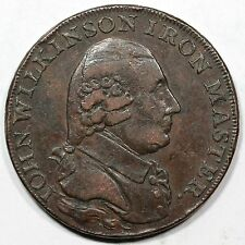 1791 D&H-433 John Wilkinson Iron Master Conder Token