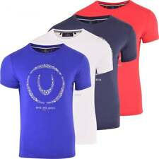 Duck and Cover Men's Designer Short Sleeve Printed Cotton Crew Neck T Shirt