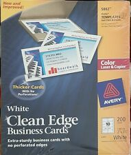 Avery White Clean Edge Business Cards 200 cards Brand New Sealed