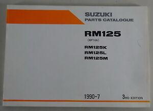 Catálogo de Piezas/Regiones Catálogo Suzuki RM 125 / Etc. Stand 07/1990