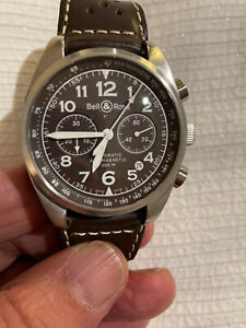 Bell & Ross Vintage 126 LX Chronograph Automatic Rare Chocolate Face