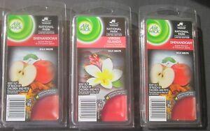 3 Air Wick Wax Melts - SHENANDOAH: Apple Harvest & Cinnamon Spice FREE SHIPPING!