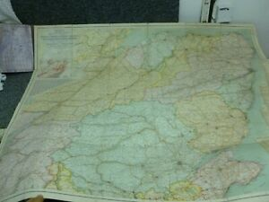 Bacon's New Survey Map of North East Scotland - Folding Map