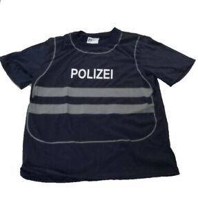 T-Shirt Weste Polizei Polizist für Kinder Uniform Kostüm Spieleshirt  Kinderkost