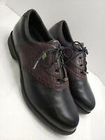 Etonic Mens Golf Shoes Difference 2000 Size 9 M Gore-Tex Champ Q-LockBlack