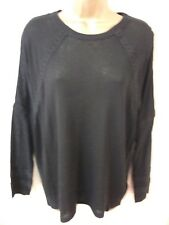 BNWT Femmes Noir m&s collection gamme Pull à manches longues Taille M RRP £ 22.50