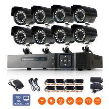 8CH 1080N Vidéo HDMI DVR 700TVL CCTV Caméra Extérieur Sécurité Surveillance Kit