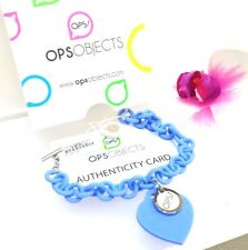 BRACCIALE RESINA OPS! OBJECTS LOVE CUORE SILICONE CELESTE OPSBR-08 ORGINALE