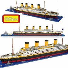 1860 unids Titanic Cruise Ship Building Ladrillos Bloques Sets 3D Lego Boat
