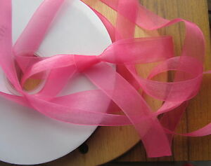"""200yd large reel / roll (over 180m) 20mm 3/4"""" sheer organza ribbon choose colour"""