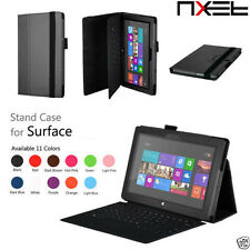 NXET Genuine Stand Leather Smart Cover Case for Microsoft Surface RT/Pro Series