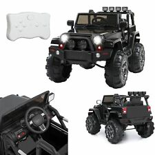 Electric Ride On 12V  Toy Car Truck Jeep with Remote Control LED Light 3 Speed