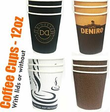 Dispose Coffee Cups Paper Cardboard Takeaway Tea Hot Drink 3layer with lid? 12oz