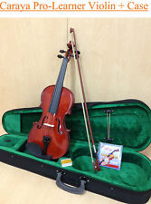 Brand New Caraya 1/2 Size Violin+Bow,Rosin,Chin-rest,Spare String,Foam hard case