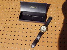 STAUER 27 JEWELS AUTOMATIC GUITAR WRIST WATCH 3ATM WATER RESISTANT ORG BAND FAIR