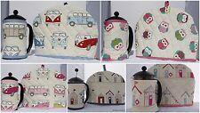 Beach Huts VW Campervan Style Owls Handmade Tea Cosy and Cafetiere Cosy Cozy