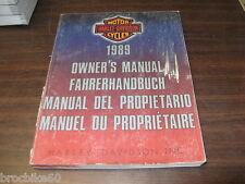 MANUEL DU PROPRIETAIRE HARLEY DAVIDSON 1999 Owner's manual