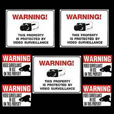STORE SECURITY CAMERAS WARNING SIGNS+STICKERS LOSS PREVENTION LOT