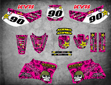 Full  Custom Graphic Kit PINK METAL Yamaha TTR 90 - 2000 - 2007 stickers decals